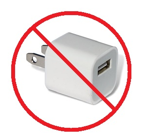 Avoid knockoff / counterfeit chargers!